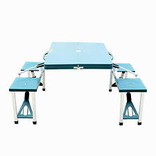 Picnic Table Portable Folding Camping Outdoor Garden Yard Suitcase w/ 4 Seats