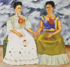 The Two Fridas Surrealism Oil Painting Giclee Print on Canvas 36''x36''