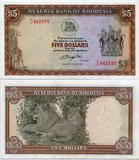 RHODESIA 5 DOLLARS 1979 P 32 AUNC SEE SCAN