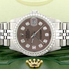 Women's Rolex Datejust 31mm S/S Jubilee Watch w/Chocolate Dial & Diamond Bezel