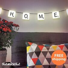 Scrabble Hanging Light Set Bunting Garland Gift Lighting Fairy String Lights Fun