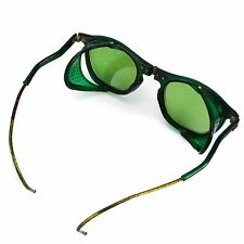 Willson Safety Goggles Vintage Green Folding Eye Glasses Steampunk Halloween