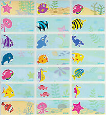 96 Under The Sear Personalised Name Label Stickers - (30*13mm) Like Finding Dory