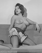 A740 8x10 BUSTY 1950s-1960s British Nude, JUNE PALMER Topless on Couch! (NUDES)