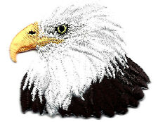 EAGLE HEAD-AMERICAN EAGLE-BIRD-PATRIOTIC-USA/Iron On Embroidered Applique Patch