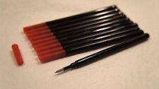 Lots of 10 Medium Point Roller Refill 0.7 mm Black Ballpoint Pen Refill