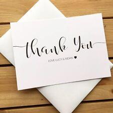 Vintage Chalkboard Thank You Usher Wedding Card Shabby Chic Uk Post