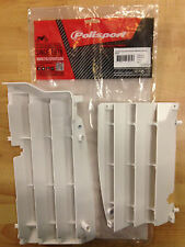 SUZUKI RMZ 450 RMZ450 2008-2016  POLISPORT RADIATOR LOUVRES RAD GUARDS  WHITE