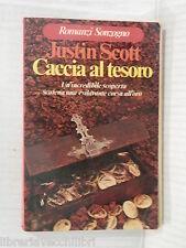 CACCIA AL TESORO Justin Scott Franco Brera Sonzogno 1976 romanzo narrativa libro