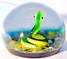 LARGE Splendid BACCARAT Garden SNAKE Limited EDITION Art Glass PAPERWEIGHT