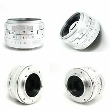 Kaxinda 35mm f/1.7 Lens for Sony A6000 A5100 A5000 APS-C  NEX MIRRORLESS silve n