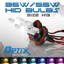 Optix 35W HID Xenon Bulbs Hi Lo Head Light - H13 9008 / 6000k 6k Diamond White