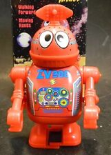 """Vintage Tin Museum Collection 4"""" Windup Plastic Space Astrobot Minor New In Box"""