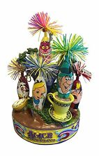 Limited Edition Alice In Wonderland Kooky Pens Set Hand Painted Stand Mad Hatter