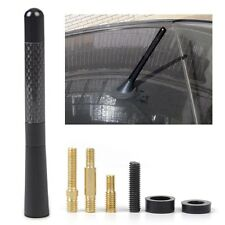 "Universal 4.7"" Aluminum Carbon Fiber Car AM/FM Radio Aerial Antenna + Screw"