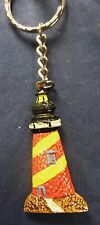 Lighthouse Key Chain Hand Painted Resin (E)