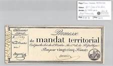 MANDAT TERRITORIAL - 25 FRANCS (AVEC LE N° DE SERIE) 28 VENTOSE AN 4 MONNIER