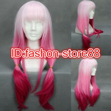 Attractive Womens Long Mixed White/pink Synthetic Hair Cosplay Wig