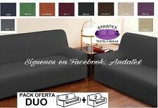 Conjunto de Fundas de sofa adaptables Duo gris