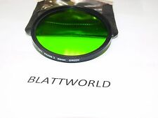 NEW 82mm OPTICAL GLASS GREEN 11 SCREW in FILTER GLASS IS MADE IN GERMANY