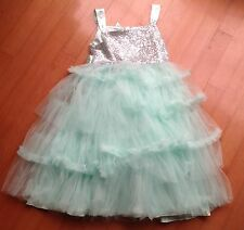 Girls formal/party dress. Age 12/13. Monsoon, Mint Green Taffetta Wedding