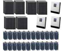 KIT SOLARE ISOLA TRIFASE FOTOVOLTAICO 9KW 48V INVERTER 12KW BATTERIA OPZS 800Ah