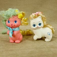 Mattel 1989 My Little Pretty Kitty Cat White & Melody Puppy Dog Pink Set Vtg