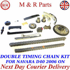 UPGRADED DUPLEX DOUBLE TIMING CHAIN KIT FOR NISSAN NAVARA D40 2.5 YD25DDTI 06