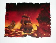 WALT DISNEY Pirates Of The Caribbean 11 x 14 LITHOGRAPH POSTER ART with COA New