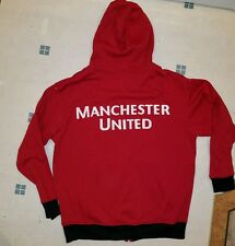 Manchester United Red Zip Up Hoodie Jacket Size XL Rhinox Official Licensed New