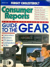 1990 Consumer Reports Magazine: Guide to Gear/Camcorders/Receivers/VCRs/CDs