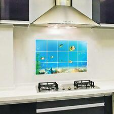 Underwater World Oil-proof Removable Wall Stickers Art Mural for Kitchen Decor