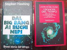 1990 LOTTO VOLUMI SUL BIG BANG DI JOHN BOSLOUGH E STEPHEN HAWKING. ASTRONOMIA