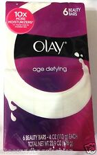 Olay Oil of Olay Age Defying Body & Face Soap Bars  6 BARS -4 OZ each