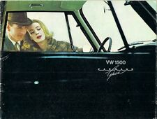 Volkswagen 1500 Karmann Ghia 1962-63 German Market Sales Brochure