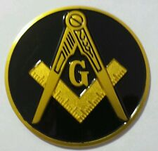 Freemason Masonic car emblem with Black background