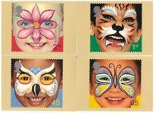 Gran Bretaña 2001 Nuevo Milenio Cara Pintura Conjunto de 4 tarjetas PHQ de menta