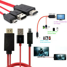 MHL Micro USB to HDMI 1080P HDTV Cable Adapter for Samsung Galaxy S5 4 Note3 Red