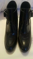 Balenciaga navy high shine wedge Boots Size 39 UK 6 stunning