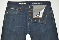 Gap 1969 Men's Dark Blue Slim Fit JAPANESE SELVEDGE Denim Jeans 32X30 AWESOME