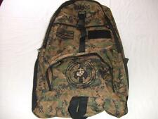 USMC MARINES MARSOC BACKPACK DAY PACK  BOOK COMPUTER  BAG DIGI CAMO  EMBROIDERED