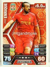 Match Attax 2013/14 Premier League - #150 Jose Enrique - Liverpool