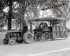 Photograph Fordson Farm Tractor Pulling Tom Mix's Horse 1925  8x10