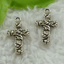 free ship 360 pieces tibet silver cross charms 23x13mm #3688