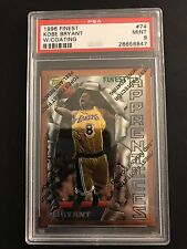 Kobe Bryant 1996-97 Topps Finest #74 w/coating Rookie RC PSA 9 RARE! Lakers