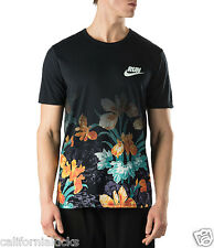 NIKE QT S+ Summer Solstice Running T-Shirt sz 2XL XX-Large Blue Flower Gradient