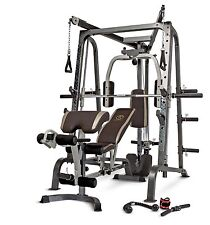 Marcy Deluxe Diamond Elite Smith Cage Workout Machine Total Body Gym | MD-9010G