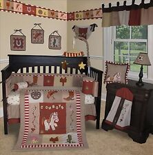 Baby Boutique - Western Cowboy - 15 pcs Crib Nursery Bedding Set