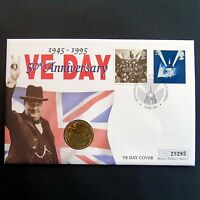 50th Anniversary Of VE Day 1995 £2 Coin & Stamps First Day Cover