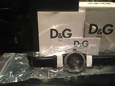 New Genuine D&G DW0527 Dolce & Gabbana Ladies Sundance Black Leather WatchTag